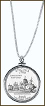 Virginia Quarter Sterling Silver Necklace