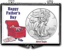 Father's Day Easy Chair American Silver Eagle Gift Display THUMBNAIL