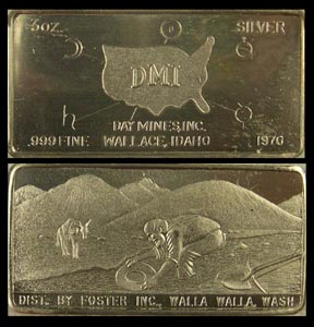 Day Mines, Wallace, ID 1970' Art Bar by Foster Company. MAIN