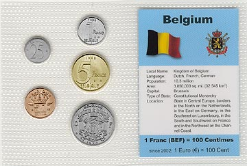 Belgium - set of 5