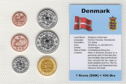 Denmark - set of 6