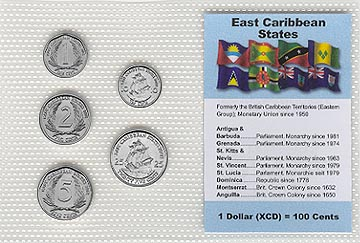 East Caribbean States - set of 5