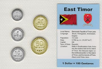 East Timor - set of 5