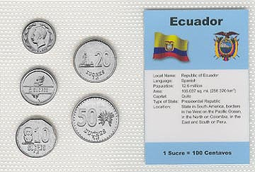Ecuador - set of 5