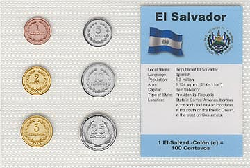 El Salvador - set of 6