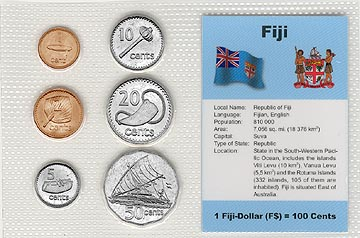 Fiji - set of 6