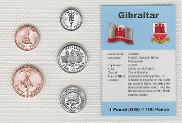 Gibraltar - set of 5