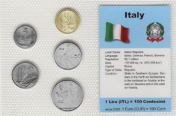 Italy - set of 5