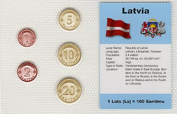 Latvia - set of 5