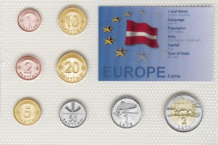 Latvia - EU set of 8