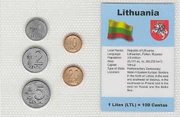 Lithuania - set of 5