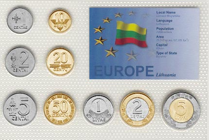 Lithuania - EU set of 9