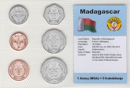 Madagascar - set of 6