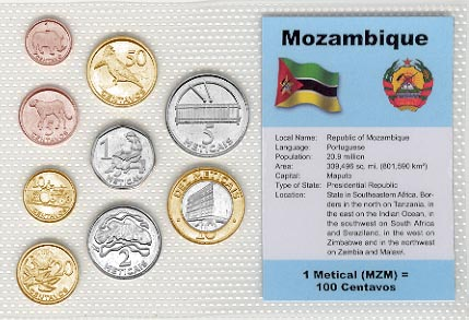 Mozambique - set of 9