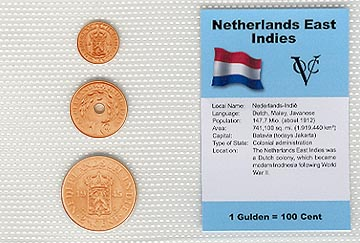 Netherlands East Indies - set of 3