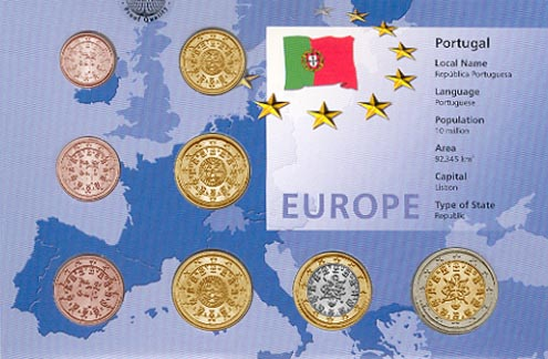 Portugal - Euro set of 8