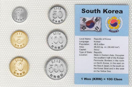 South Korea - set of 6