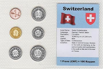 Switzerland - set of 6