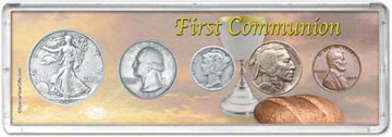 1936 First Communion Coin Gift Set THUMBNAIL