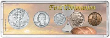 1937 First Communion Coin Gift Set THUMBNAIL