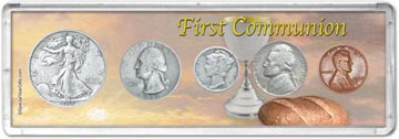 1938 First Communion Coin Gift Set THUMBNAIL