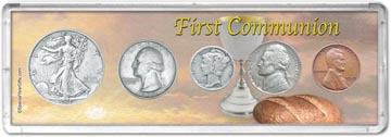 1939 First Communion Coin Gift Set THUMBNAIL