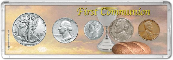 1940 First Communion Coin Gift Set LARGE