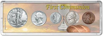 1941 First Communion Coin Gift Set THUMBNAIL