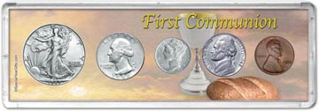 1942 First Communion Coin Gift Set THUMBNAIL