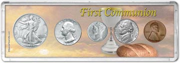 1944 First Communion Coin Gift Set THUMBNAIL