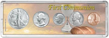 1946 First Communion Coin Gift Set THUMBNAIL