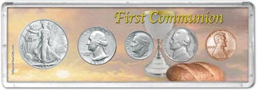 1947 First Communion Coin Gift Set THUMBNAIL