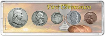 1950 First Communion Coin Gift Set THUMBNAIL