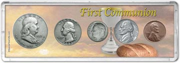 1953 First Communion Coin Gift Set THUMBNAIL