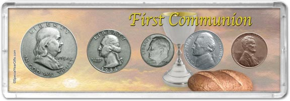 1954 First Communion Coin Gift Set LARGE