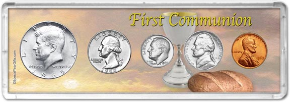 1965 First Communion Coin Gift Set LARGE