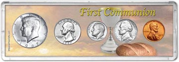 1967 First Communion Coin Gift Set THUMBNAIL