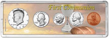 1970 First Communion Coin Gift Set THUMBNAIL
