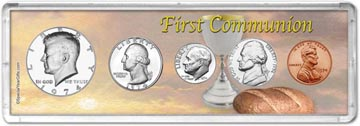 1974 First Communion Coin Gift Set THUMBNAIL