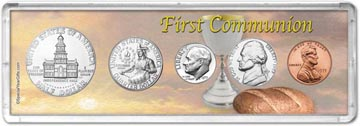 1975 First Communion Coin Gift Set THUMBNAIL