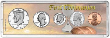 1982 First Communion Coin Gift Set THUMBNAIL