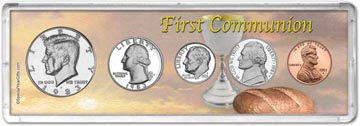 1983 First Communion Coin Gift Set THUMBNAIL
