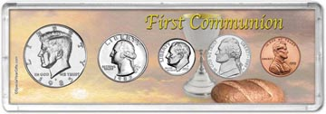 1985 First Communion Coin Gift Set THUMBNAIL