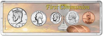 1988 First Communion Coin Gift Set THUMBNAIL