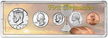 1990 First Communion Coin Gift Set THUMBNAIL