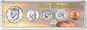1991 First Communion Coin Gift Set THUMBNAIL