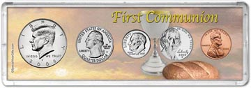 2008 First Communion Coin Gift Set THUMBNAIL