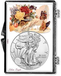 For Mother American Silver Eagle Gift Display THUMBNAIL