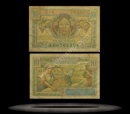 France Banknote, 10 Francs, ND (1947), P#7