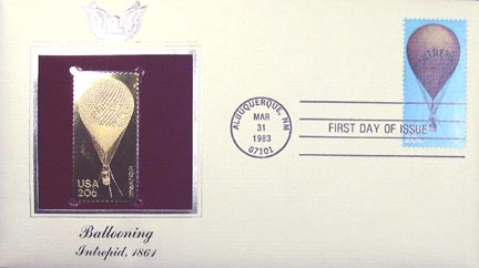 #2032 20¢ Balloons - Gold-Foil First Day Cover